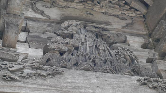 大山寺の彫刻