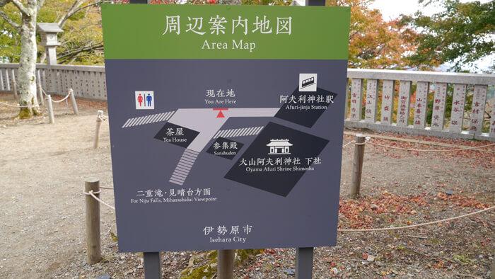 阿夫利神社下社の周辺案内図