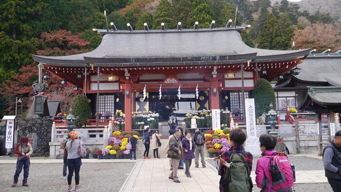 阿夫利神社下社の拝殿