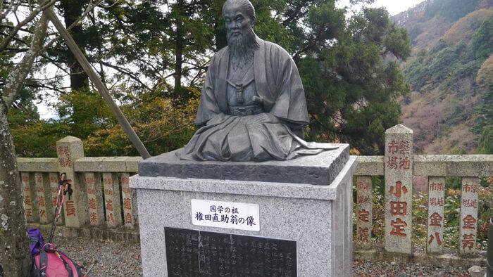 権田直助翁の像