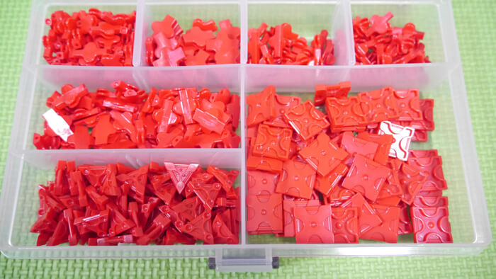 色ごと・種類ごとに分類