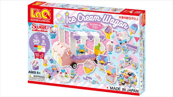 LaQ スイートコレクション アイスクリームワゴン