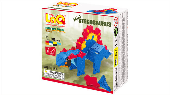 LaQ ダイナソーワールド ミニ ステゴサウルス