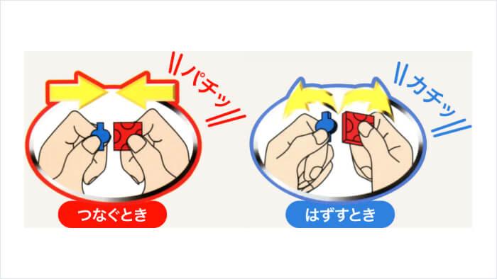 LaQ (ラキュー) の繋ぎ方と外し方