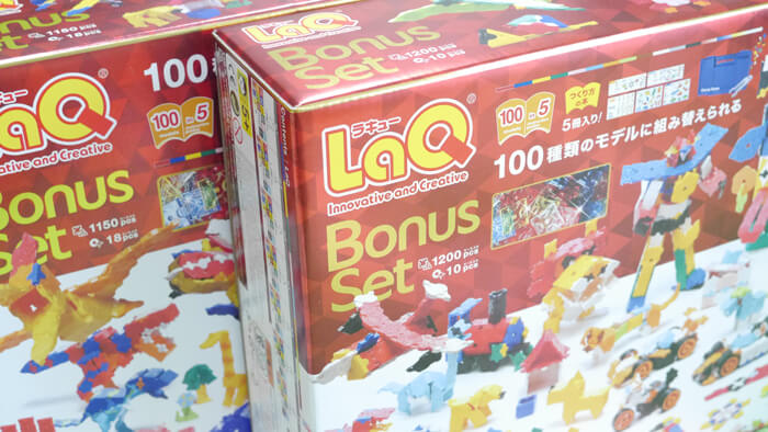LaQ ボーナスセット2018と2019の箱